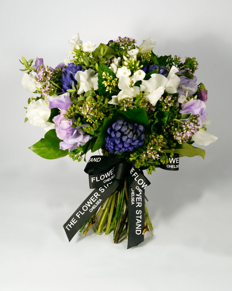 Hyacinth and sweet pea bouquet the flower stand chelsea izmirmasajfo