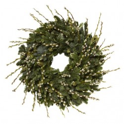 Pussy Willow Christmas Wreath
