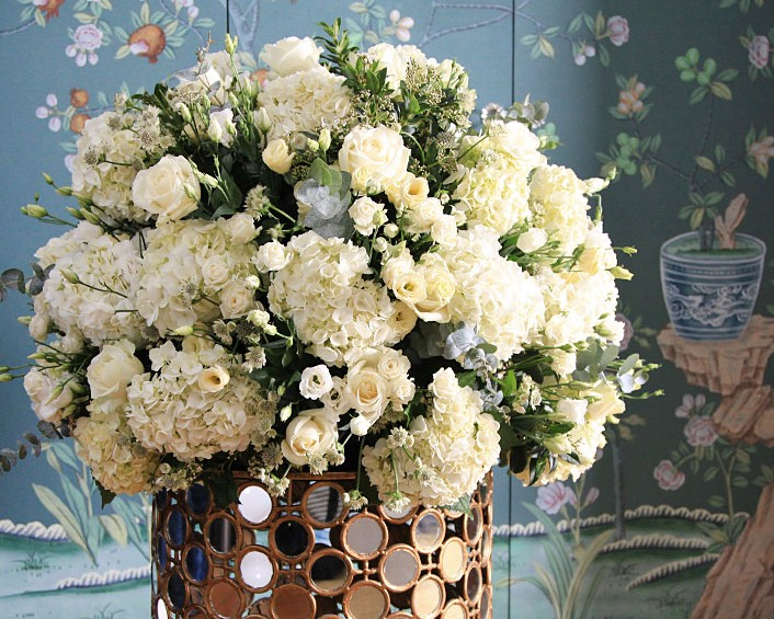 White-rose-hydrangea-bouquet