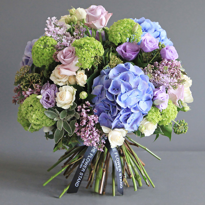 hydrangea and guelder bouquet