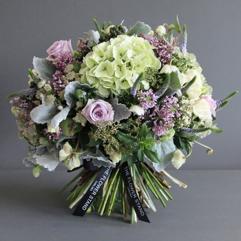 hydrangea and lilac bouquet