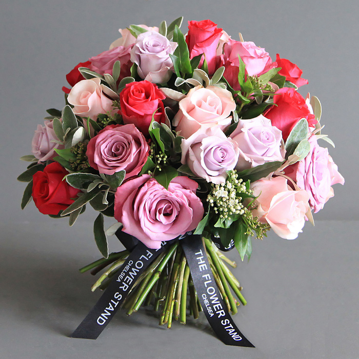 Luxury ecuadorian lilac rose bouquet same day flower for Images of bouquets of roses
