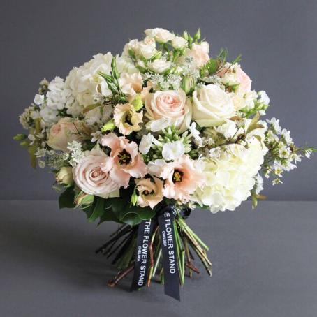 Lisianthus and Hydrangea bouquet - luxury flowers london