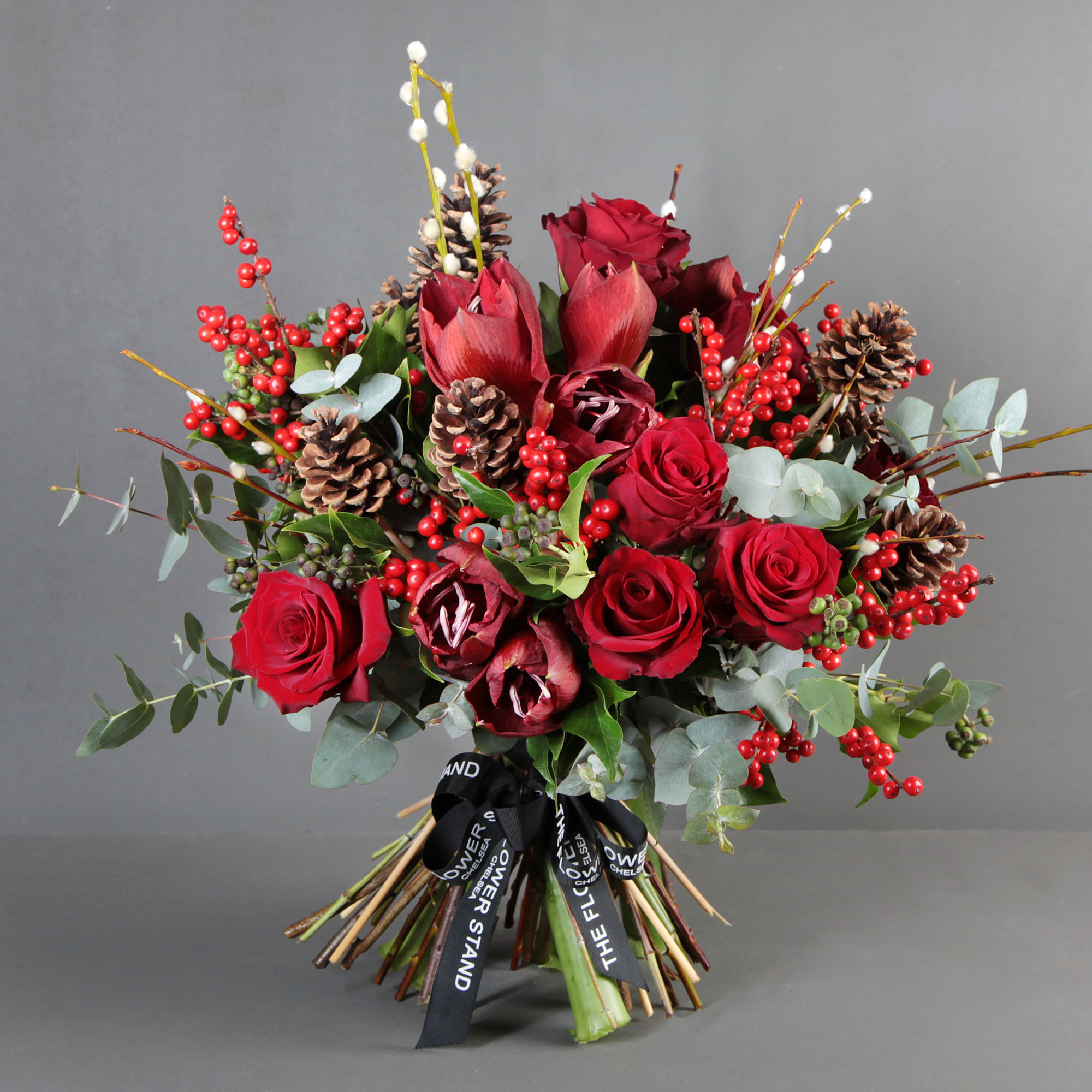 Red Christmas Bouquet The Flower Stand Chelsea
