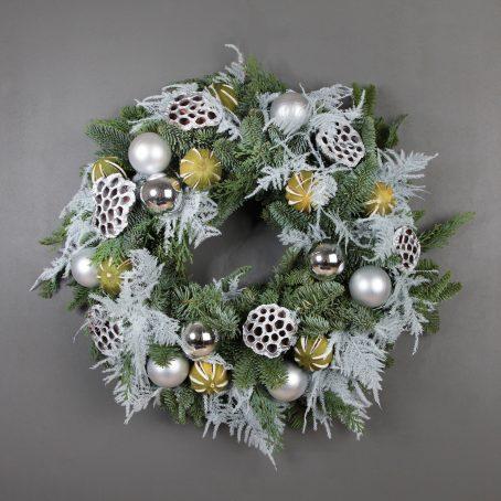 White Asparagus and Lotus pod Christmas wreath