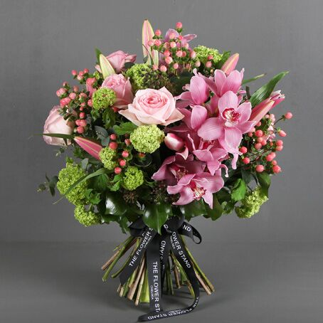 Luxury Bouquet Soft Pink Luxury Orchids, London's premier florists