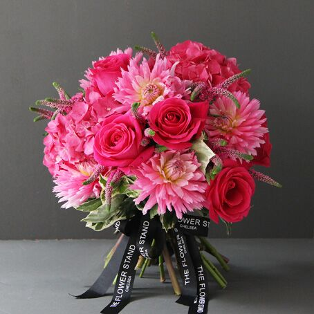 Luxury Pink Rose and Dhalia Bouquet