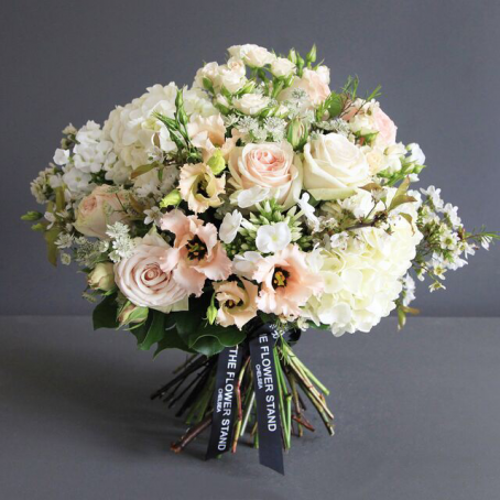 Lisianthus and Hydrangea bouquet - luxury flowers london