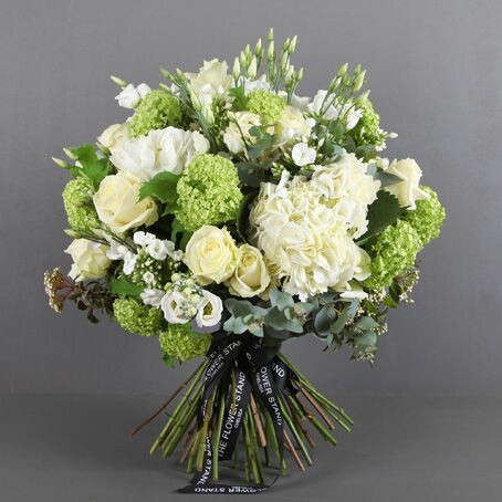 Mixed White and green hydrangea and guelda luxury bouquet london
