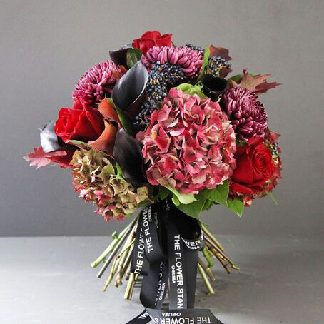 black magic luxury christmas bouquet