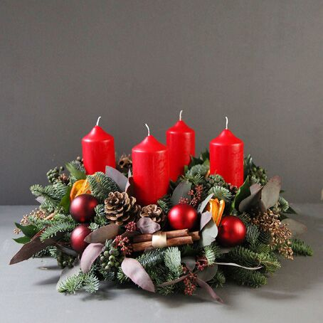 classic-advent-wreath-luxury-pine-candle-wreath