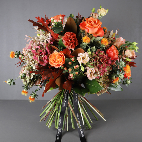 Ornage passion bouquet luxury flower delivery fulham and chelsea