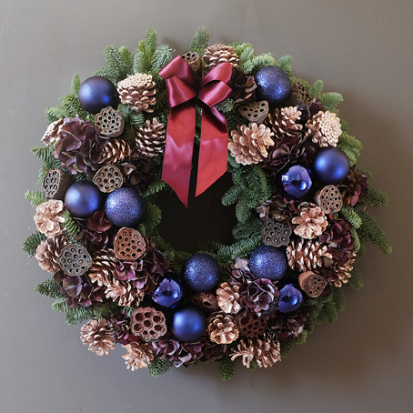Mayfair festive wreath same day delivery wreaths london