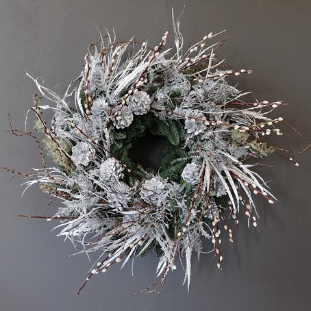 silver dust wreath luxury christmas wreath