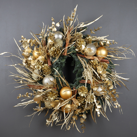 gold wreath, designer wreaths london