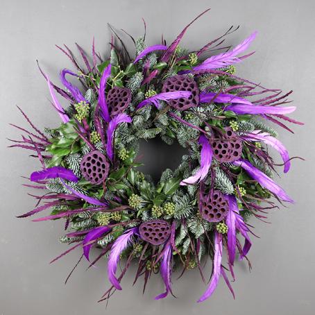 designer rooster christmas wreath