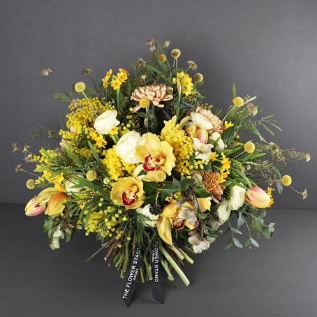designer bouquet of spring flowers