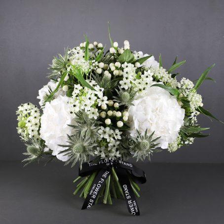 Stellar-white-hydrangea-bouquet